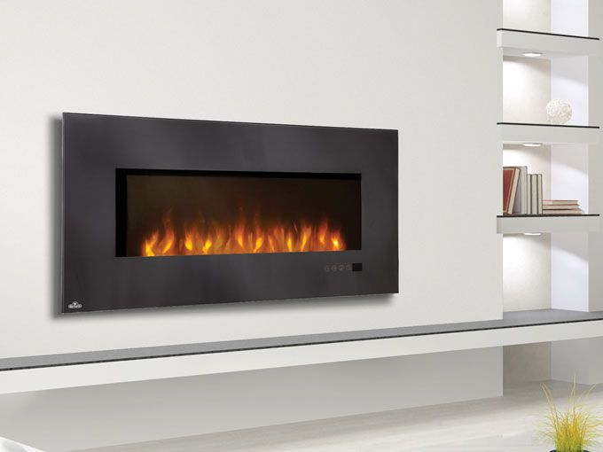Wall Mount Electric Fireplace Napoleon 48 Inch Slimline Black Wall Mount Electric Fireplace