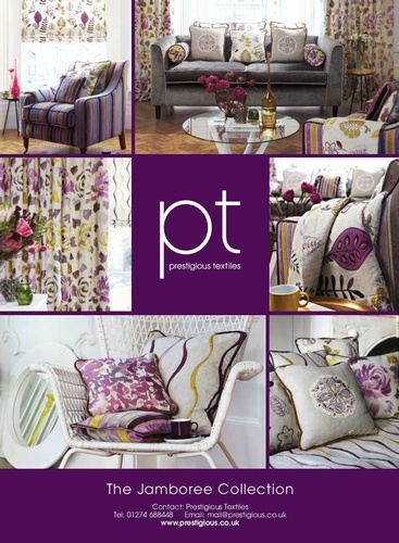 Jamboree - Eclectic mix of embroideries, prints and velvets from Prestigious Textiles Ltd