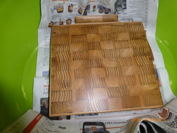 Planche a découper en hêtre et châtaigner  Butcher board of ash and walnut