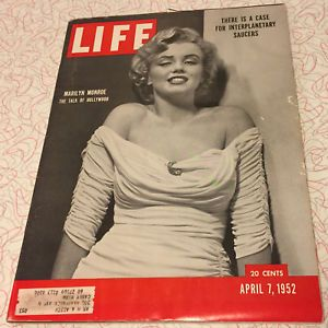 Life Magazine - April 7, 1952 Marilyn Monroe Cover  The Talk of Hollywood & UFOs