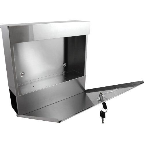 The vertical lockable mailboxes stainless steel mail boxes modern uban style:Amazon.co.uk:DIY & Tools