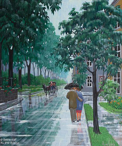 Rémi Clark, 'Aux couleurs de la pluie', 30'' x 36''   Galerie d'art - Au P'tit Bonheur - Art Gallery