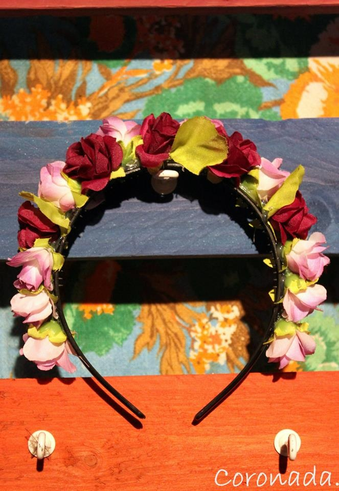 vinchas con flores  flower crowns.  inspired by frida khalo