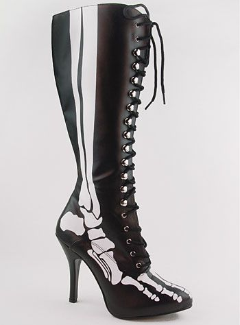 X-Ray Glow Bones Boots #skeleton #halloween #costume