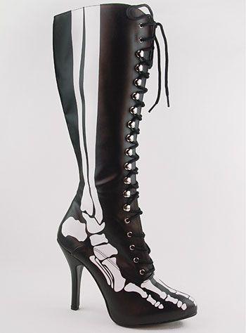 Skeleton boots
