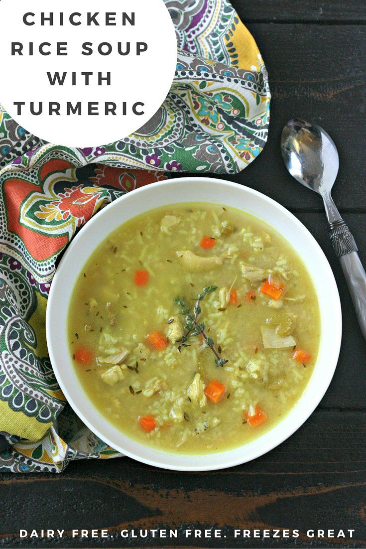 Chicken Rice Soup with Turmeric