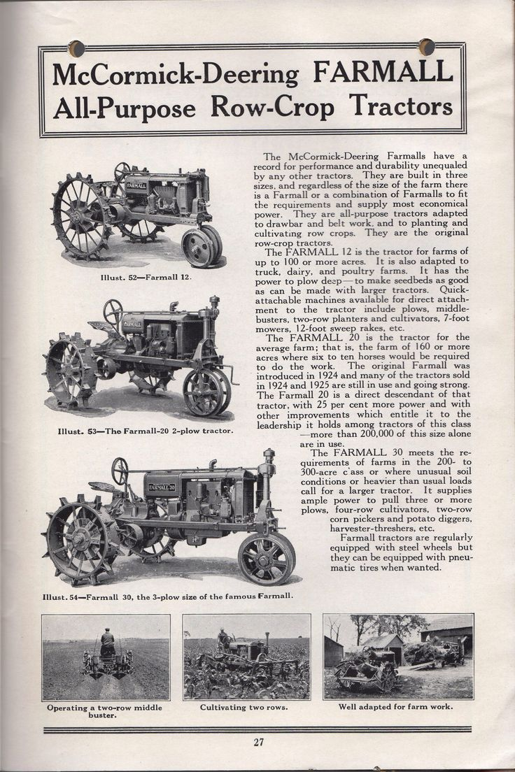McCormick Tractor Plowing