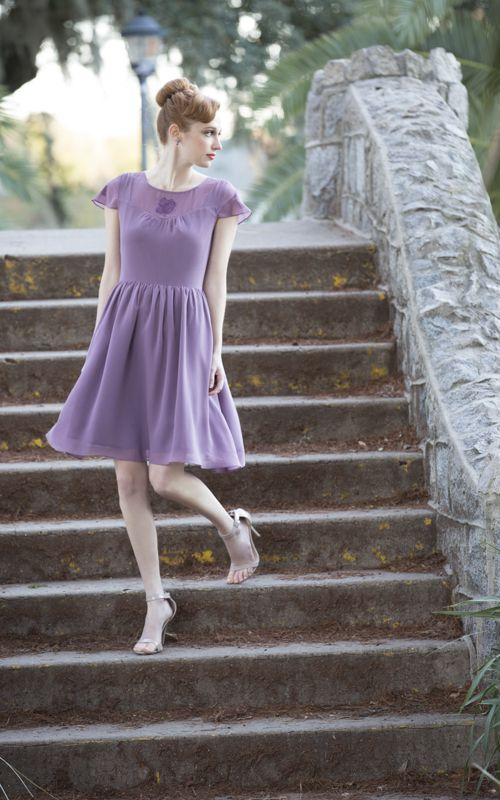 Looking for a subtle shout of lilac? Try the Fleur For the Dramatic Dress!