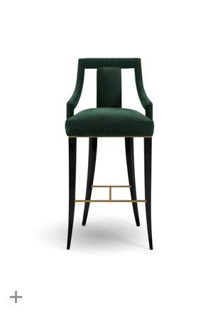 EANDA Bar Chair, @BRABBU, cotton velvet, ebony, design piece, cozy, elegant, www.brabbu.com