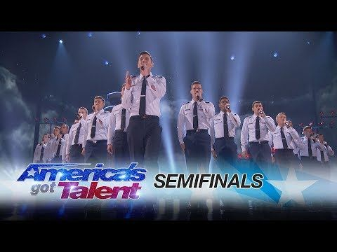In The Stairwell: Air Force Academy A Capella Group Amazes The Judges - America's Got Talent 2017 - YouTube