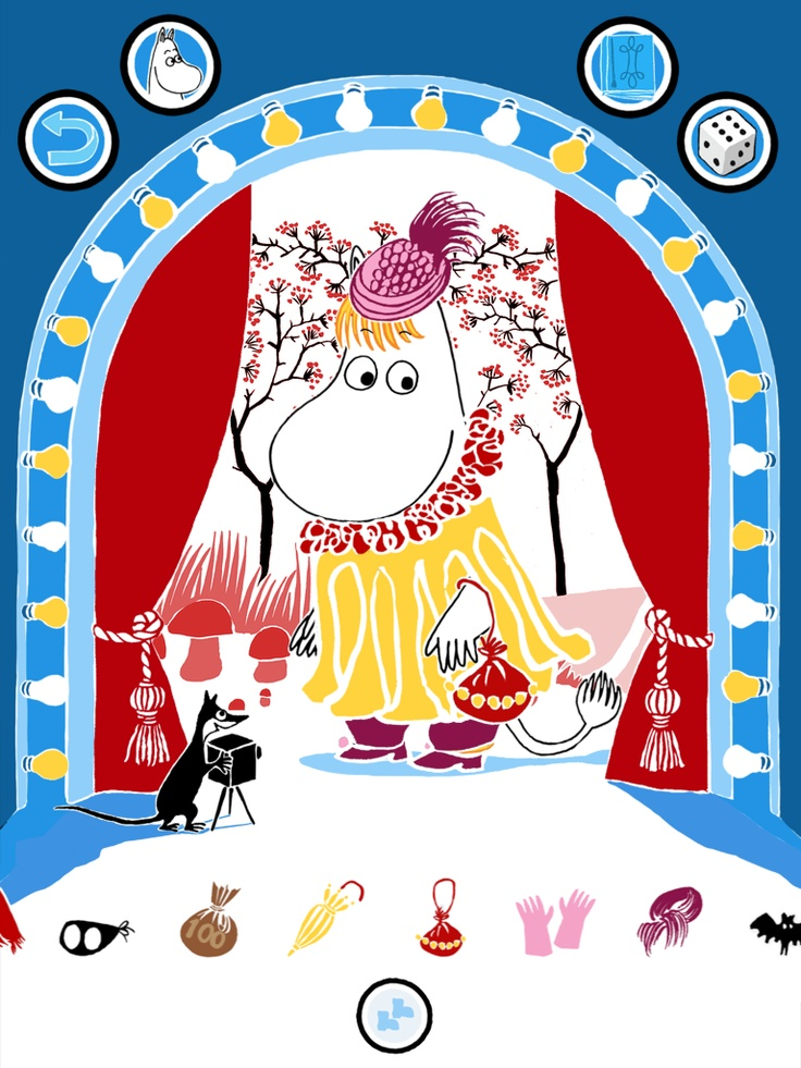 Snork Maiden in a beautiful yellow dress https://itunes.apple.com/app/moomin-costume-party/id584735277  https://play.google.com/store/apps/details?id=com.spinfy.pukuleikki