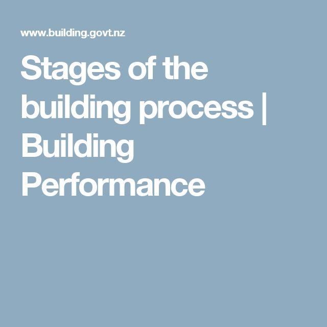 Stages of the building process | Building Performance