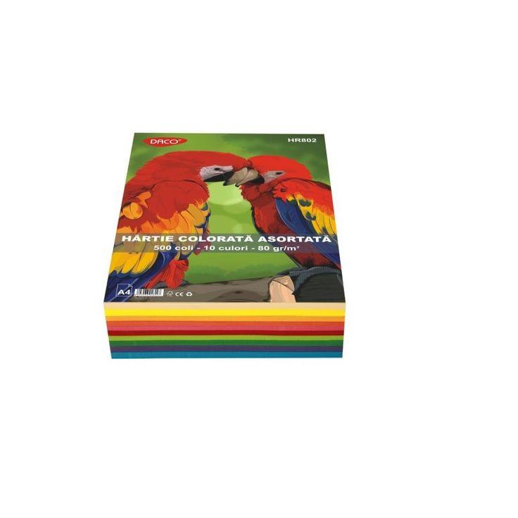 Hartie colorata asortata 10 culori A4 Daco - DrOffice