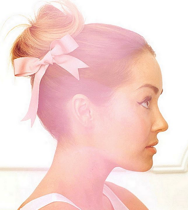 Ballerina Bun: Leave it to our favorite gal Lauren Conrad to turn a basic bun into a showstopper. Gather up your hair and twist into a bun just like you normally would, then form a strand of ribbon into a bow and it pin to the side of the bun.