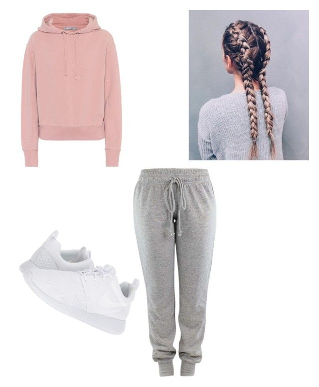 """""""FRIDAY"""" by haileymagana on Polyvore featuring Vince and NIKE"""