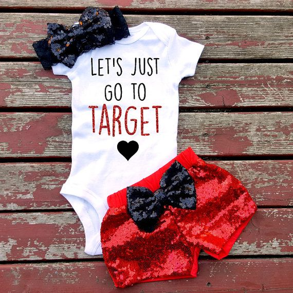 Let's Go To Target Bodysuit Baby Girl Girls by GLITTERandGLAMshop