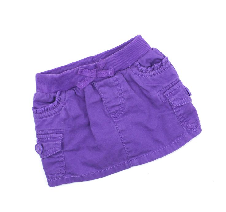 Baby Girl Purple Cargo Style Skirt  with Undershorts in by Childrens Place in Size 6-9 Months