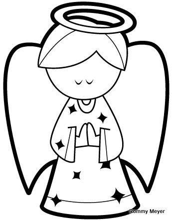 Resultado de imagen para angel para colorear para niños | Navidad ...