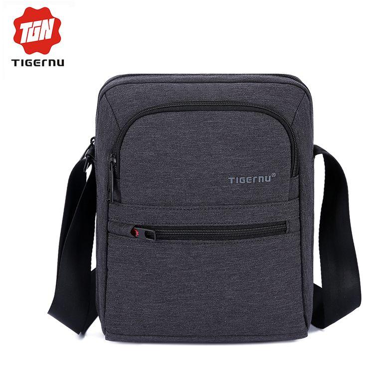 2017 Tigernu Brand High Quality Men 's Messager Bag Mini Business Shoulder Bags  Casual Summer Bag Women Cross body Bag