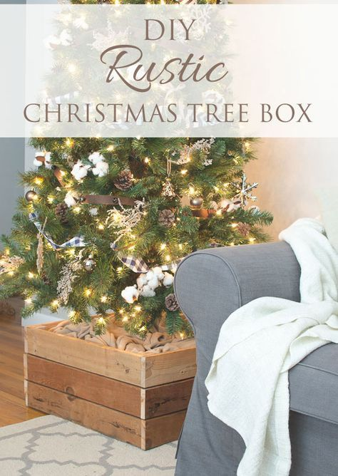 DIY Rustic Christmas Tree Stand