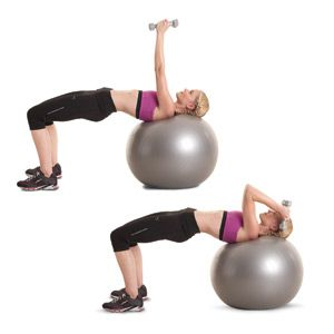 Will be adding this to my regimen...Awesome workout- stability ball + dumbells