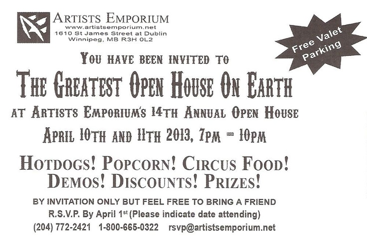 Artists Emporium: THE GREATEST OPEN HOUSE ON EARTH