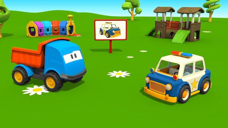 Leo il camion curioso e la macchina della polizia - Cartoni animati per ...