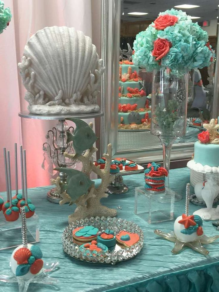 Gorgeous under the sea Quinceañera party! See more party planning ideas at CatchMyParty.com!