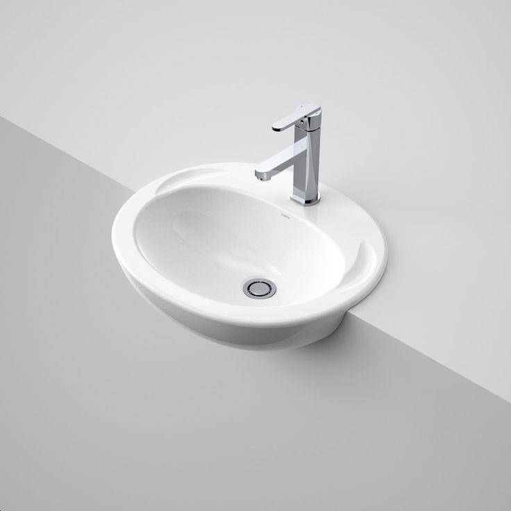 Concorde Semi Recessed Basin  http://www.caroma.com.au/bathrooms/basins/concorde/concorde-semi-recessed-basin