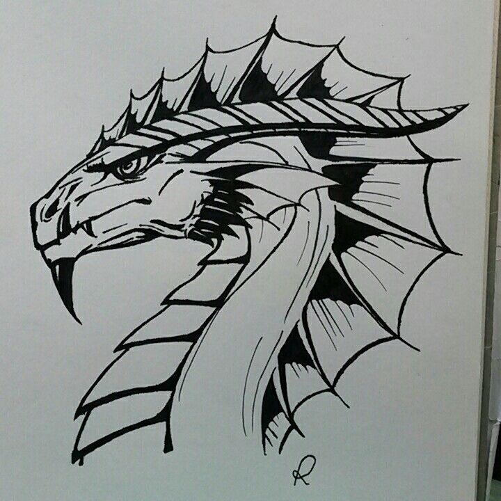 Ink dragon - 2015 (by me)