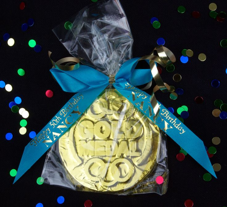 Olympic Chocolate Gold Medal Party Favor $3.80