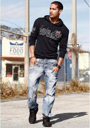 "Джинсы - http://www.quelle.ru/New_arrivals/Men_fashion/Men_trousers/Men_jeans/Dzhinsy__r1267551_m294208.html?anid=pinterest&utm_source=pinterest_board&utm_medium=smm_jami&utm_campaign=board3&utm_term=pin27_28032014 Все модные тенденции - в одних джинсах! Заниженная талия, эффект потертости, ""рваные"" эффекты, карманы с вышивкой и декоративные швы. Must have! #quelle #man #fashion #jeans #style #trend"