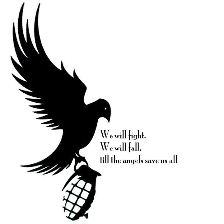 """Hollywood Undead lyrics """"Young"""" got this done yesterday just changed the lyrics to """"We are young, But we have heart, Born in this world as it all falls apart"""""""