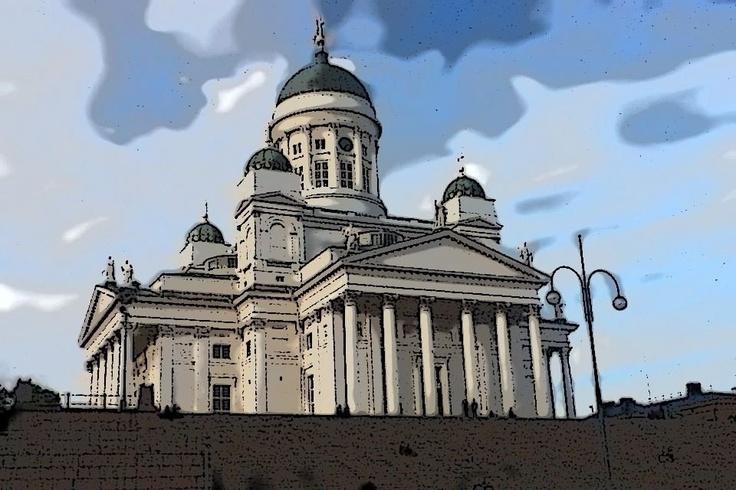 Uppoudu tähän interaktiiviseen kuvaan: Helsingin tuomiokirkko by Opettaja