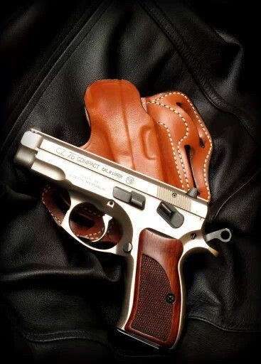 Cz 75  Stainless compact; Possibly the sexiest gun ever made.