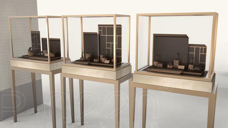 Vitrines / Windows designed by Pozzo di Borgo Styling.