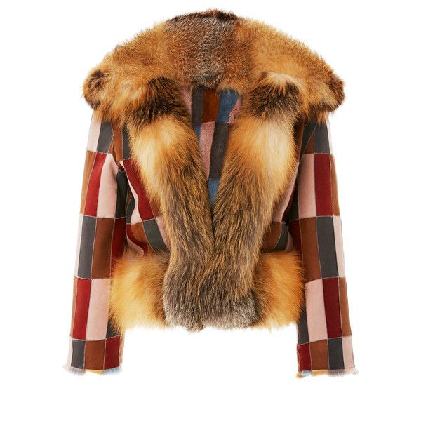 Reversible Patchwork Mink Jacket   Moda Operandi (86,175 MYR) ❤ liked on Polyvore featuring outerwear, jackets, patchwork jacket, mink fur jacket, lapel jacket, reversible mink jacket and double face jacket
