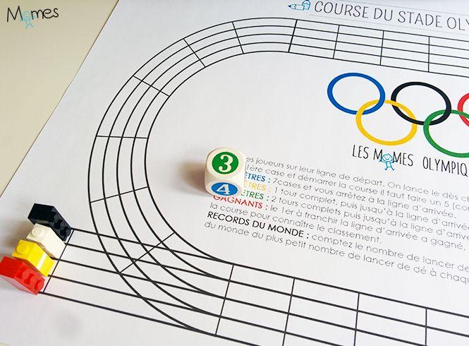 Pour s'amuser pendant les jeux Olympiques, imprimez notre jeu de Course du Stade Olympique ! Un petit jeu de course de dés qui se déroule sur un terrain d'athlétisme. Plusieurs courses sont possibles, du sprint au marathon !