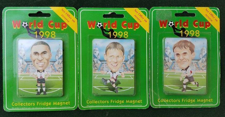ENGLAND SQUAD COLLECTORS 3 FRIDGE MAGNET WC 1998 WORLD CUP SOCCER FIFA FOOTBALL  | eBay