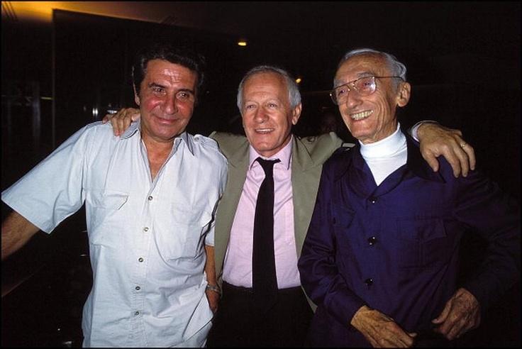 Alors là un trio fabuleux, trois hommes que j'admire :  Gilbert Bécaud  Jacques Chancel  et  Jacques-Yves Cousteau