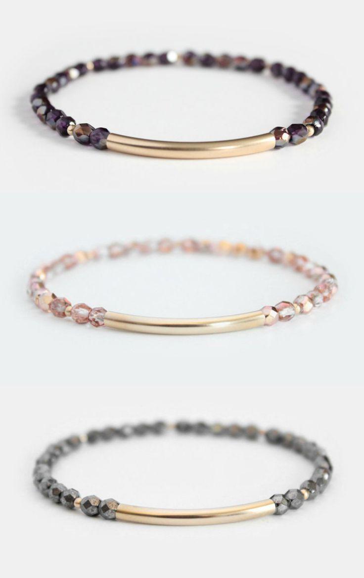 Beaded Bar Bracelets   junghwa on Etsy