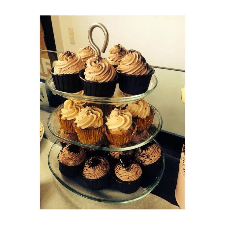 Cupcakes de café, dulce de leche y nutella