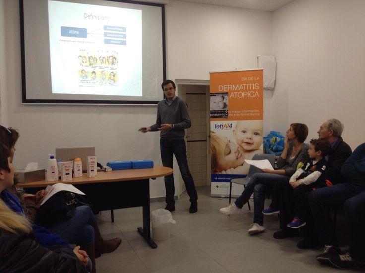 Durante la charla vimos las causas, prevención y tratamiento de la dermatitis atópica
