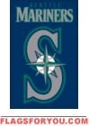 """Mariners Applique Banner Flag 44"""" x 28"""""""