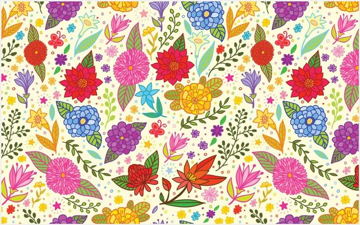 Vector Flower Pattern Wallpaper | flower vector wallpaper pattern