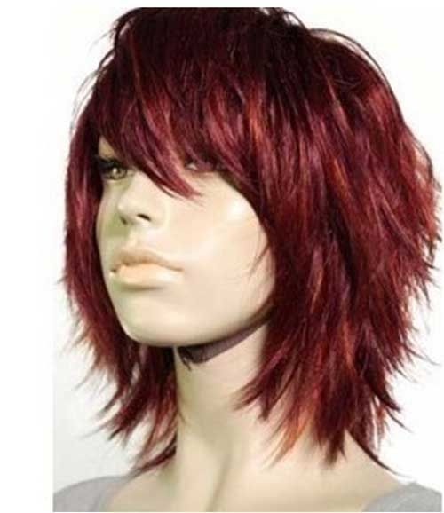 short layered haircut with bangs 89 best images about shag haircuts on 4047 | c2d0dbd76802d5c8c7719dafd05279d6 short shaggy haircuts layered bob hairstyles