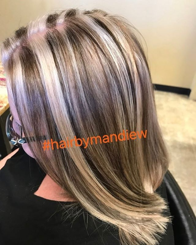 "WEBSTA @ hairbymandiew - "" Coffee, cream and chai tea"".......who makes up these damn hair color names my clients bring me?! Lmao. #chunkyhighlights #redkenshadeseq #redkenflashlift #joicolumishine #hairbymandiew #saloncentric #behindthechair"