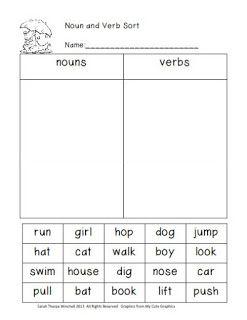 I Dream of First Grade: Splat, Parts of Speech, Balanced Equations Freebies