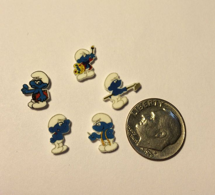 5 SMURF FLOATING LOCKET CHARMS BRAINY LOT OF DIFFERENT CHARACTERS SMURFS SMURF    eBay