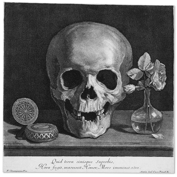 Ram Skull Etching